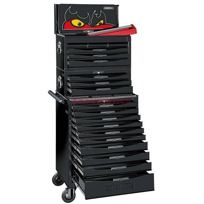 Wózek narzędziowy czarny 1001 elementów Teng Tools TCMM1001BK