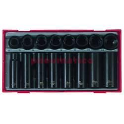 16-elementowy zestaw nasadek maszynowych z chwytem kwadratowym 12 - Teng Tools