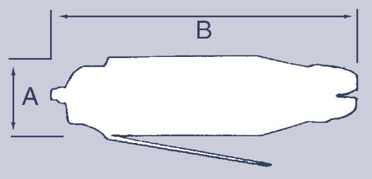 Wymiary nożyc pneumatycznych