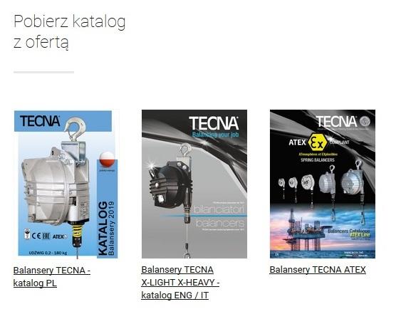Katalogi balanserów TECNA