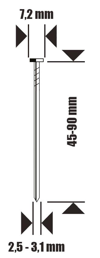 gwożdzie do IC90-1-E