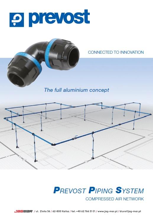 KATALOG Prevost – innowacyjny system rur i złączek z aluminium (ENG)
